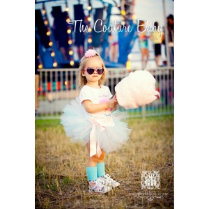 Cotton Candy Light Pink & Light Blue Tutu