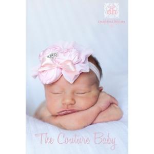 Couture Ballerina Pink Silk & Chiffon  Headband