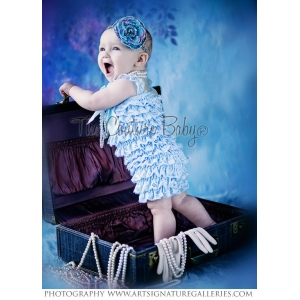Light Blue Petti Romper