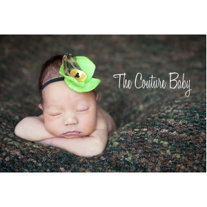 Lime Leopard Baby Headband
