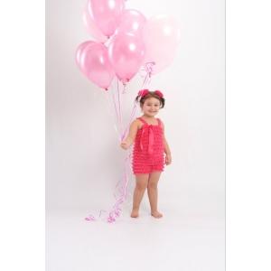 Hot Pink Petti Romper