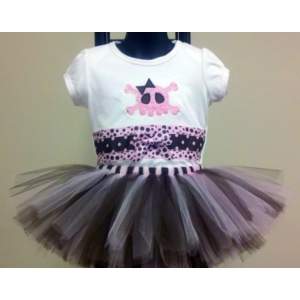 Skull & Crossbones Girly Tutu Set
