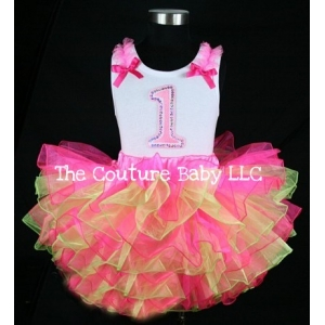 Party Princess Birthday PInk & Lime Tutu Set