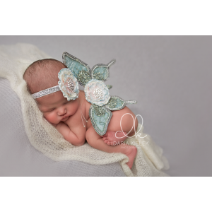 Green Mint Deluxe Butterfly Wings & Headband Photo Prop 2 Piece Set
