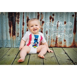 Red & White Polka Dot Mickey Tie & Suspenders Onesie or Shirt