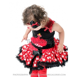 Minnie Red & White Polka Dot Birthday Cupcake Pettiskirt Set