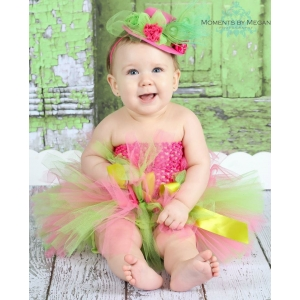 Hot Pink & Lime Green Tutu