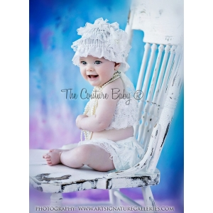 Dusty Rose Glam  3 Piece Bloomer Set
