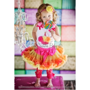 Strawberry Sherbet Cupcake Pettiskirt Set