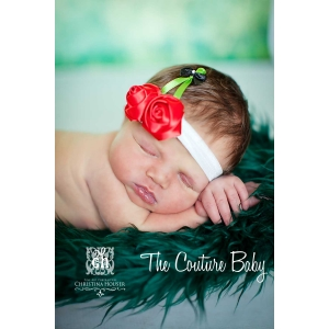 Little Miss Cherry Baby Headband