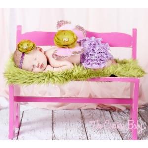 Lavender & Pear Green Sequin Butterfly Wings & Headband Set
