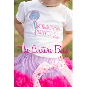 Lollipop Princess Applique Shirt or Tank