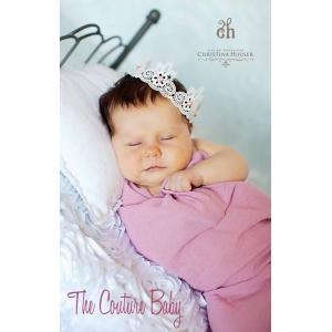 Vintage Pink Pearl Lace Baby Crown