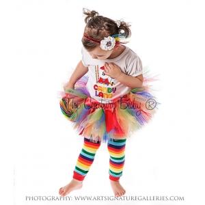 Rainbow Multi Color Tutu & Bow