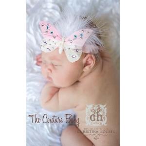 Pink Mariposa Jeweled Butterfly Headband