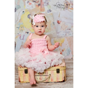 Pretty Pink Rosette Petti Dress
