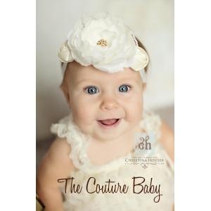 Creamy Ivory Flower & Rosette Headband
