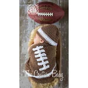 Football Bunting Crochet 2 Piece Set