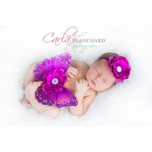 Regal Purple Sequin Butterfly Wings & Headband Photo Prop 2 Pc Set