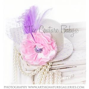 Pastel Pink & Lavender Top Hat