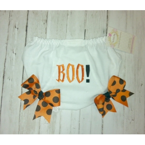 Boo! Halloween Diaper Cover