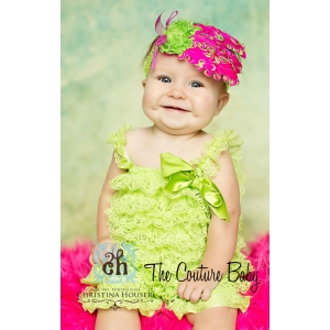 Lime Green Petti Romper