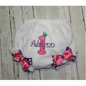 Princess Birthday Personalized Bloomers