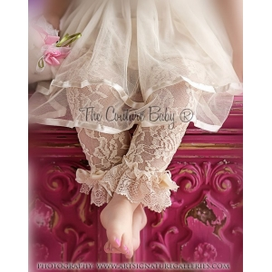 Lace Ruffle Tights