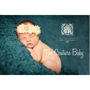 Yellow Lemon Drop Shabby Flower Headband