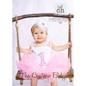 First Birthday Pink Fluff Tutu Set