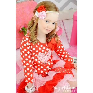 "Red-Pink & White ""Be My Valentine"" Headband"