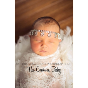 Dripping in Diamonds Halo Headband Rhinestone Photo Prop Couture
