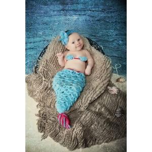 Hot Pink & Aqua Mermaid Crochet Set