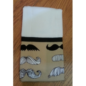 Mr. Mustache Burp cloth