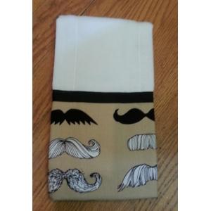 Mr. Mustache Burp cloth
