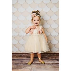 Vintage Mauve & Cream Floral Dress
