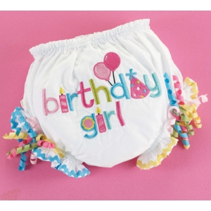 Birthday Girl Bloomers Diaper Cover