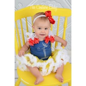 Snow White Princess Crystal Birthday Pettiskirt Set