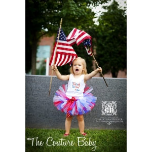 I Rock the Red, White and Blue Tutu 3 Piece Set