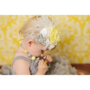 Yellow Dream Silver Glitter Headband