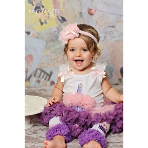 1st Birthday Cupcake Pink, Purple & Lavender 2 Piece Pettiskirt Set