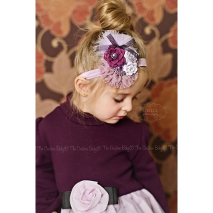 Plum Purple Floral Headband