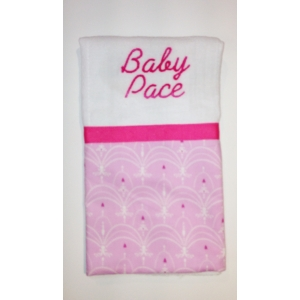 Pink Chandelier Burp Cloth