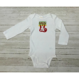 Christmas Tree Initial Onesie or Top
