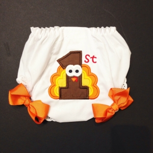 1st Thanksgiving Diaper Cover
