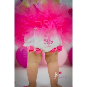 Hot Pink & Pink Personalized Diaper Cover