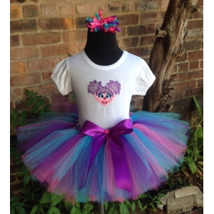 Abby Personalized Birthday Shirt, Headband & Tutu 3 Piece Set