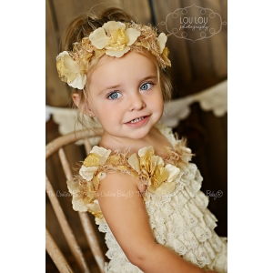 Golden Girl Floral Halo Headband