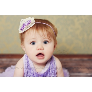 Lavender Lace Floral Pearl Headband