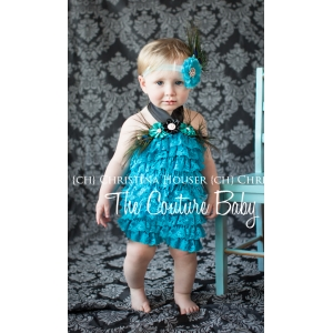 Peacock Blue Dream Feather Pettiromper